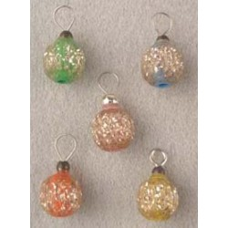 Tinsel Tone Colored Ornaments