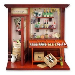 Wine Shop Shadow Box