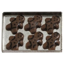 Gingerbread Man Cookies on a sheet