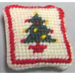 NEEDLEPOINT PILLOW-CHRISTMAS TREE