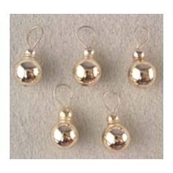 SSN: SILVER BALL ORNAMENTS, 5/PK