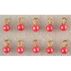SSN: TINY RED ORNAMENTS 10/PK