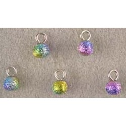 SSN: (5) MULTI COLORED FOIL ORNAMENTS