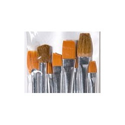 Plaid Texture Brush Set, 8pc