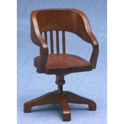 Walnut Swivel Desk Chair