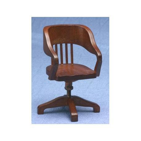 miniature walnut swivel desk chair dollhouse office