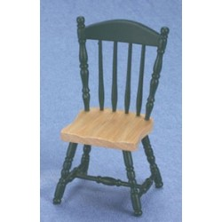 Side Chair Oak/Hunter Green