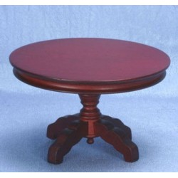 Mahogany Round Pedestal Table