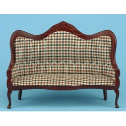 Plaid Victorian Sofa