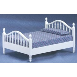 Classic White Double Bed