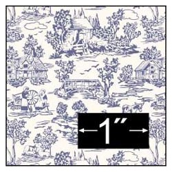 6 pack Campagne Toile Blue Wallpaper
