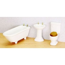 BATH SET 3/PC, WHITE
