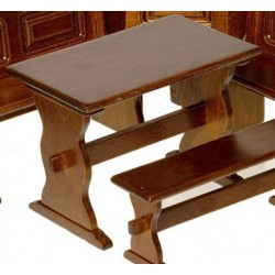 Kitchen Nook Walnut Trestle Table