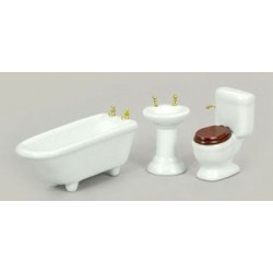 BATH SET, 3PC, WHITE