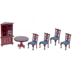 Green Mahogany 6 Piece Dining Room Set