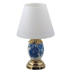 LED BLUE AND WHITE TABLE LAMP