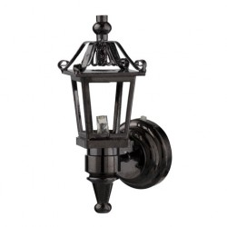LED BLACK NICKEL COACH LAMP