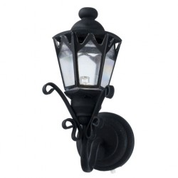LED BLACK FANCY COACH LAMP
