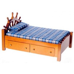 Walnut Captain's Bed