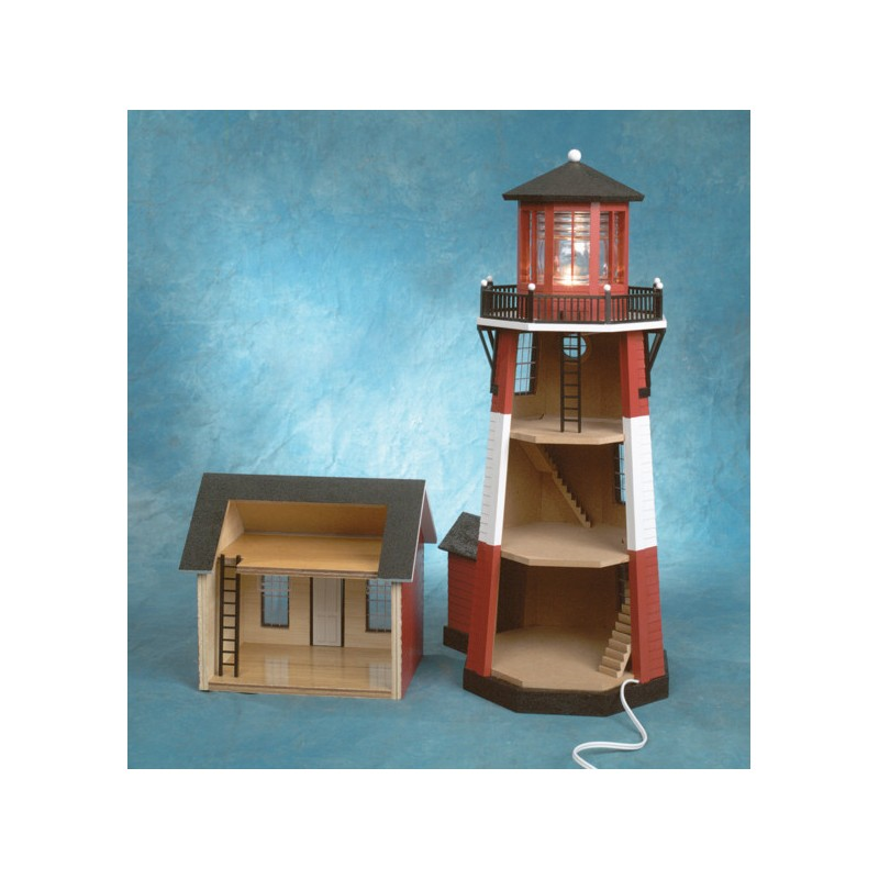 1 2 Inch Scale New England Lighthouse Kit Dollhouses