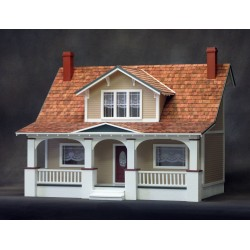 Classic Bungalow Dollhouse Kit, Milled MDF