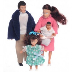 4pc Modern Doll Family/br