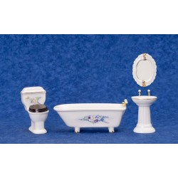 Bathroom Set/4 W/fwrs/cs