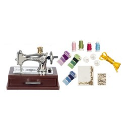 Silver Sewing Machine w/Moving Needle