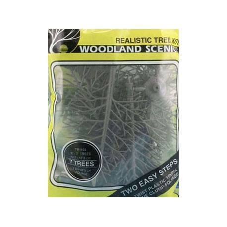 Green Deciduous Trees 7Pcs 5In-7In