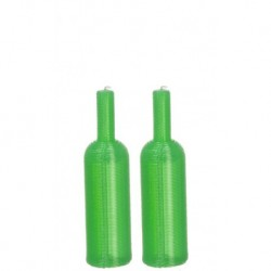 Wine Bottles/set/2/green