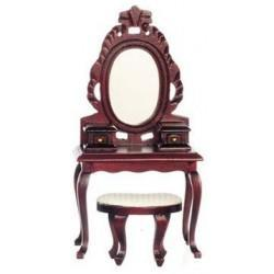Vanity with Stool, Mahogany