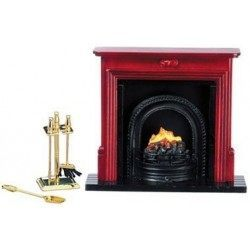 Fireplace & Accessories Set, 6pc