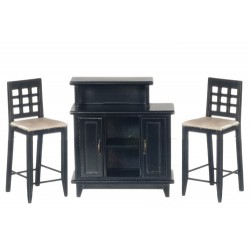 Black Bar and Chair Set