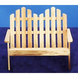Adirondack Oak Loveseat