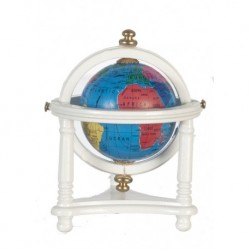Small Globe with White Stand