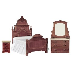 Victorian Walnut Bedroom Set