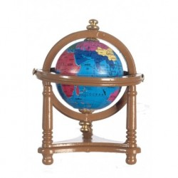Small Globe with Walnut Stand