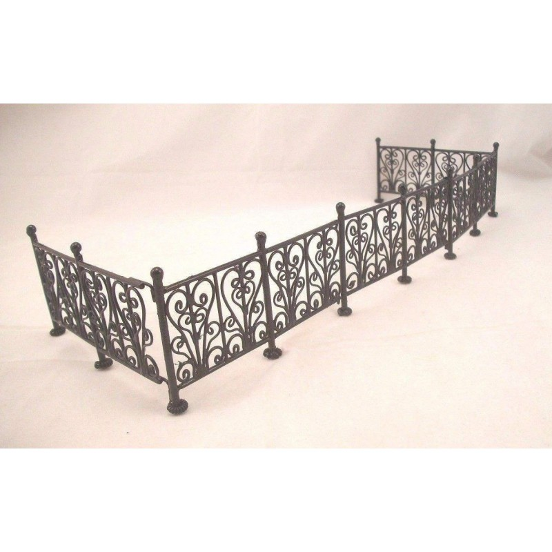 Wrought Iron Fence Bl 6pc Dollhouse Fencing Amp Retaining