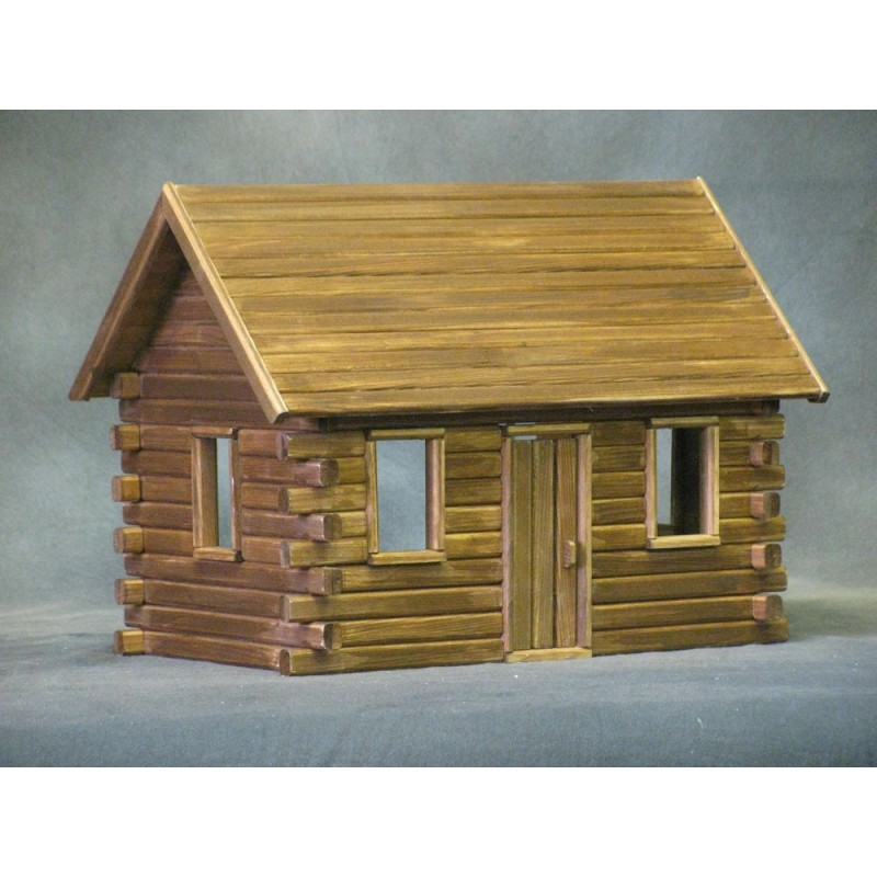 Crockett 39 s log cabin classic dollhouse kit dollhouses for Cabin furniture sale