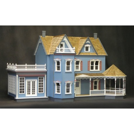 Harborside Mansion Dollhouse (2 Boxes), Milled Plywood