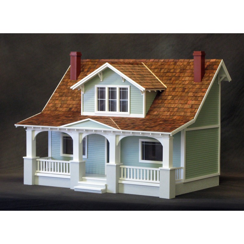 1 2 Inch Scale Classic Bungalow Dollhouse Kit Milled