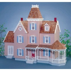 1 Inch Scale Northview Dollhouse Kit, Milled Plywood