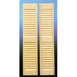 1/2 Scale Louvered Shutters, 2/pk
