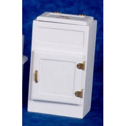 Ice Box W/2 Doors, White/cb