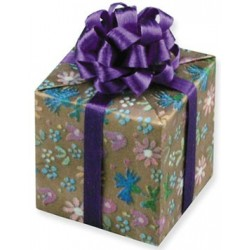 Purple Floral Gift with Bow