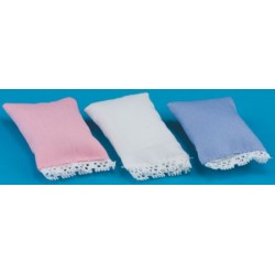 Pillow, assorted Blue, Pink, White