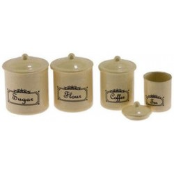 Canister Set, 4 Piece - Ivory