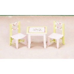 CHILD'S TABLE, 2 CHAIRS