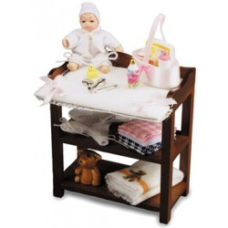 Baby Changing Table with Baby