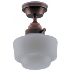 Ceiling Light, Frosted Bronze Vintage Semi-Flush